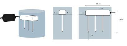 sonda humedad conductividad electrica suelo sustrato TEROS 12 volumen influencia